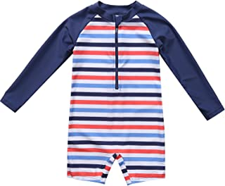BeautyIn Baby Girls Floral Rash Guard Swimsuit Short Sleeve Bathing Suit