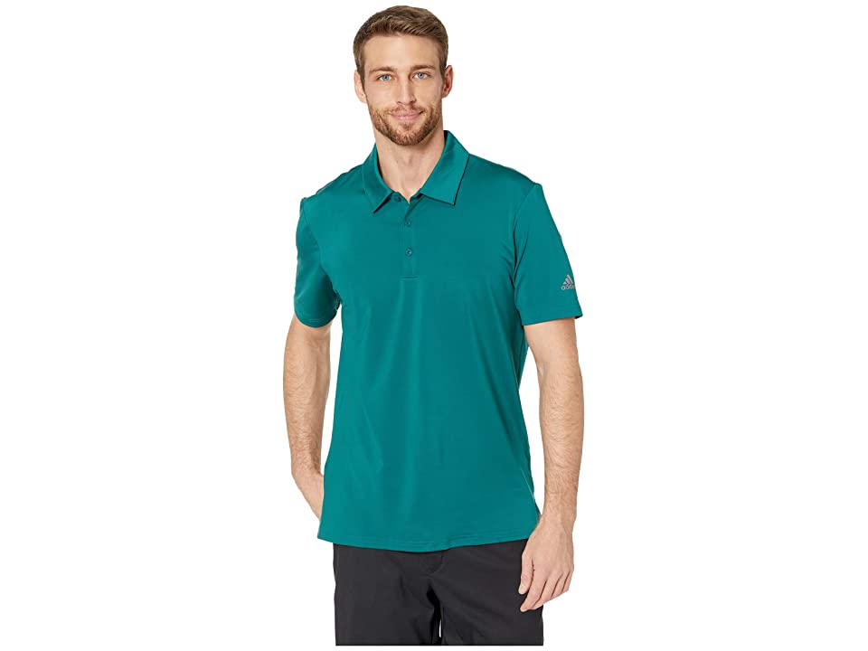 adidas Golf Ultimate Solid Polo (Noble Green) Men