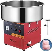 VBENLEM Commercial Cotton Candy Machine 20.5 Inch Electric Cotton Candy Machine Red Candy..