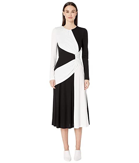Prabal Gurung Lugu Long Sleeve Sash Dress