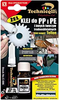 Technicqll Clear Adhesive Glue Super Gel For Pp Polypropylene, Pe Polyethylene, Ptfe, Silicone