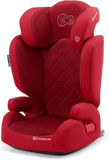 Kinderkraft Car Seat XPAND, Booster Child Seat, with Isofix, Adjustable Headrest, Side Protection, for Toddlers, Infant, Group 2/3, 15-36 Kg, Up to 12 Years, Safety Certificate Intertek, Red: image