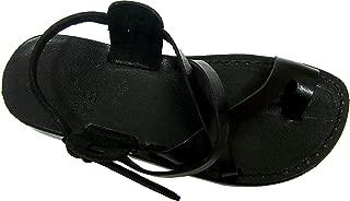 Unisex Genuine Leather Biblical Sandals (Jesus - Yashua) Black Style I