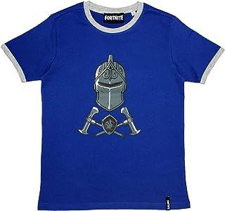 Epic Gamess Camiseta Fortnite Casco y Armas Azule - Camiseta Fortnite Manga Corta Color Azul (Azul, 12 años)