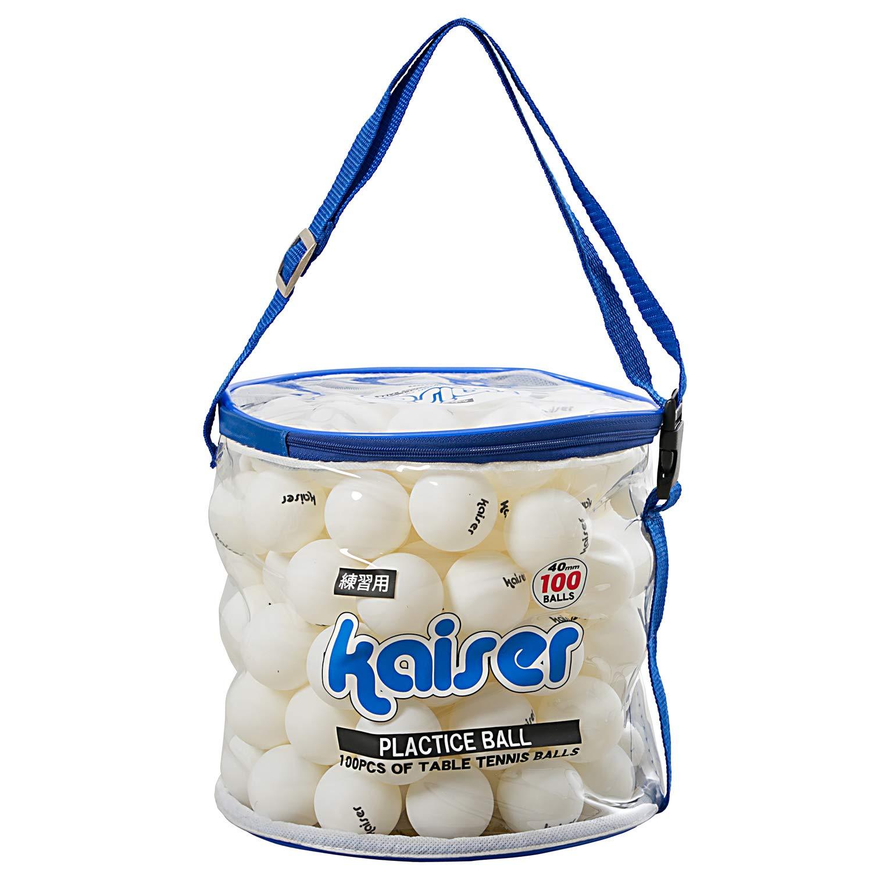 Kaiser(カイザー) 卓球 ボール 100P セット KW-252 ケース付 練習用
