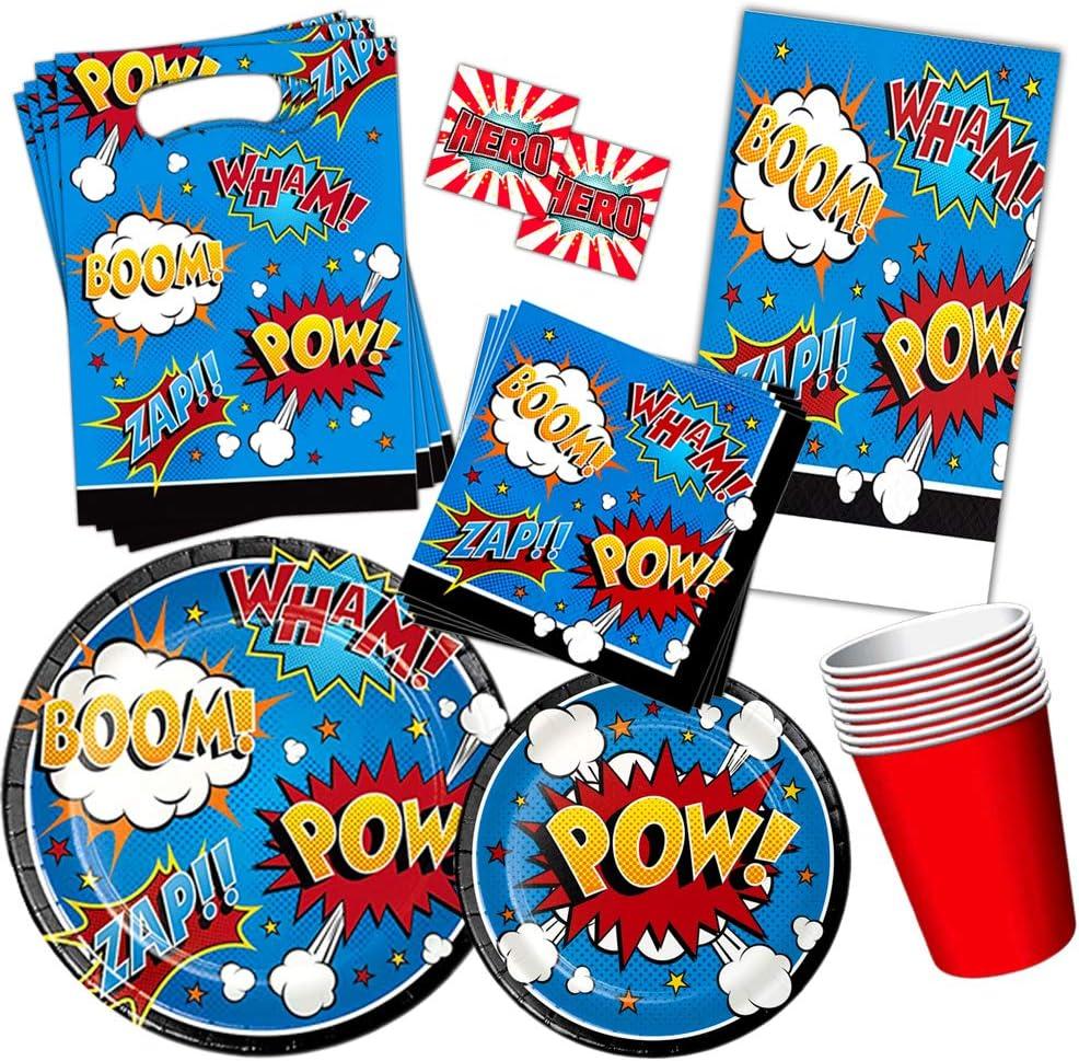 Set of 4 Kids Superhero Birthday Party Superhero Party Preschool Party Favors Reusable Straw Favor Superhero Birthday Party Favors