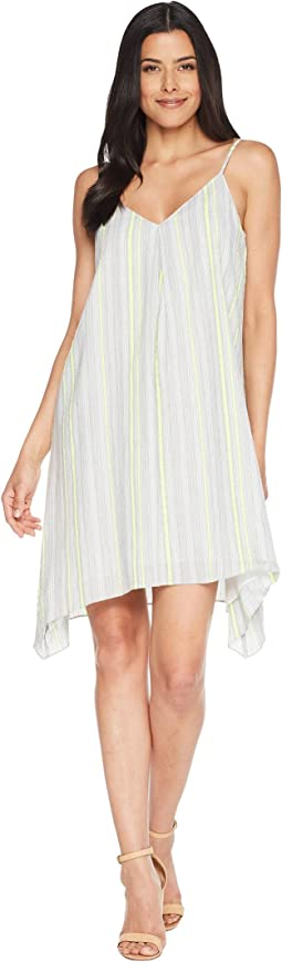 Yarn-Dye Stripe Gauze Sharkbite Cami Dress