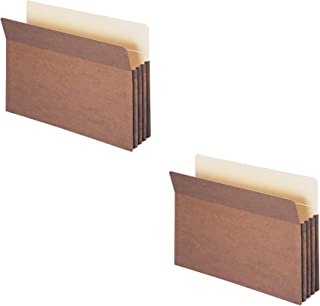 """Smead File Pocket, Straight-Cut Tab, 3-1/2"""" Expansion, Legal Size, Redrope (2 X Pack of 25)"""