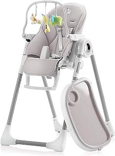 Sweety Fox - Baby, växande barnstol, justerbar och vikbar med lekbåge – 7 höjder, ryggstöd barn 5 positioner, avtagbar bri...
