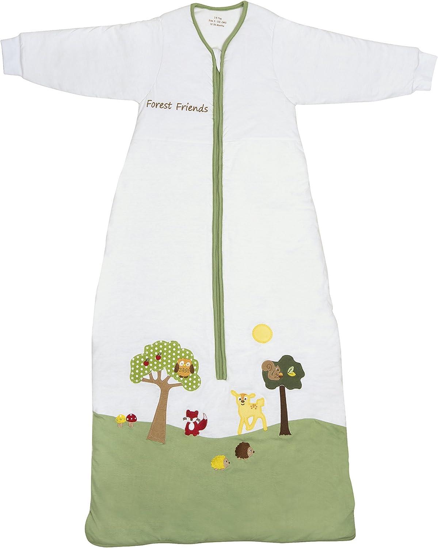 Slumbersafe Winter Toddler Sleeping Bag Long Sleeves 3.5 Tog - Forest Friends, 18-36 Months Large