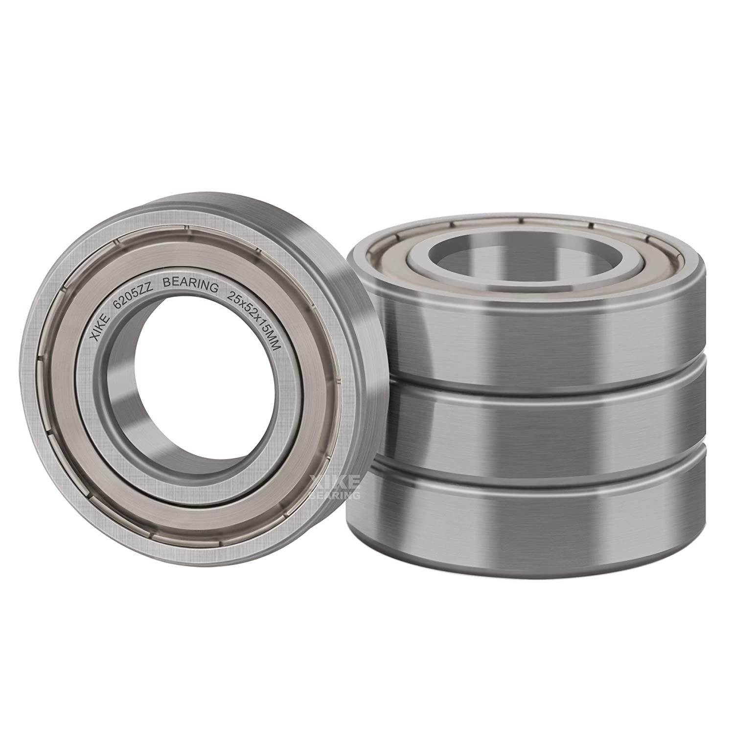 XiKe 4 Pcs 6205ZZ Double 25x52x15mm Daily bargain sale Seal Bearings Year-end annual account Metal Pre-Lub