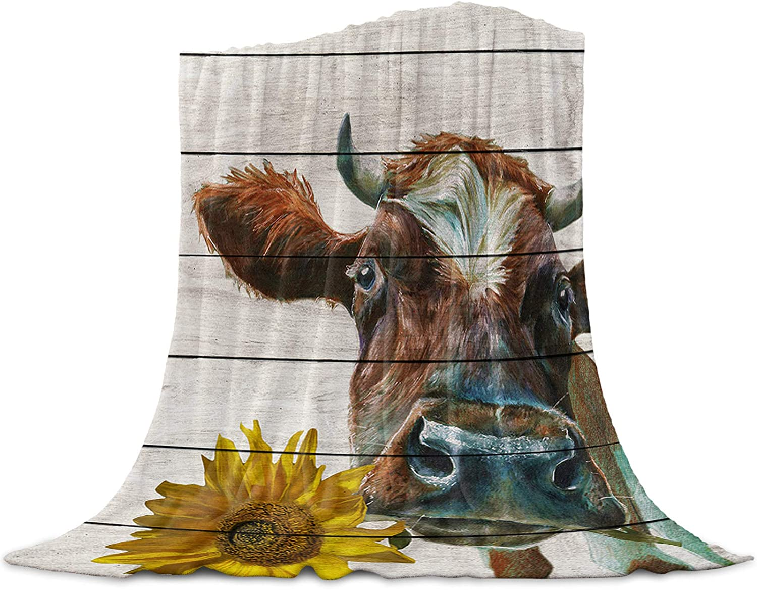 MUSEDAY Flannel Fleece Throw Blanket Outstanding for Sofa Couch or Bed lowest price Farm