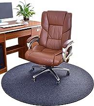 LJFYXZ Heavy Duty Hard Chair Mat Short Plush Round Rug for Living Room, Bedroom, Office, Study Hard Floor Protection Multi...