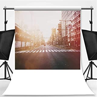 Street at Osaka Without Logos Vintage Style Photography Backdrop,091700 for Photography,Flannelette:5x7ft