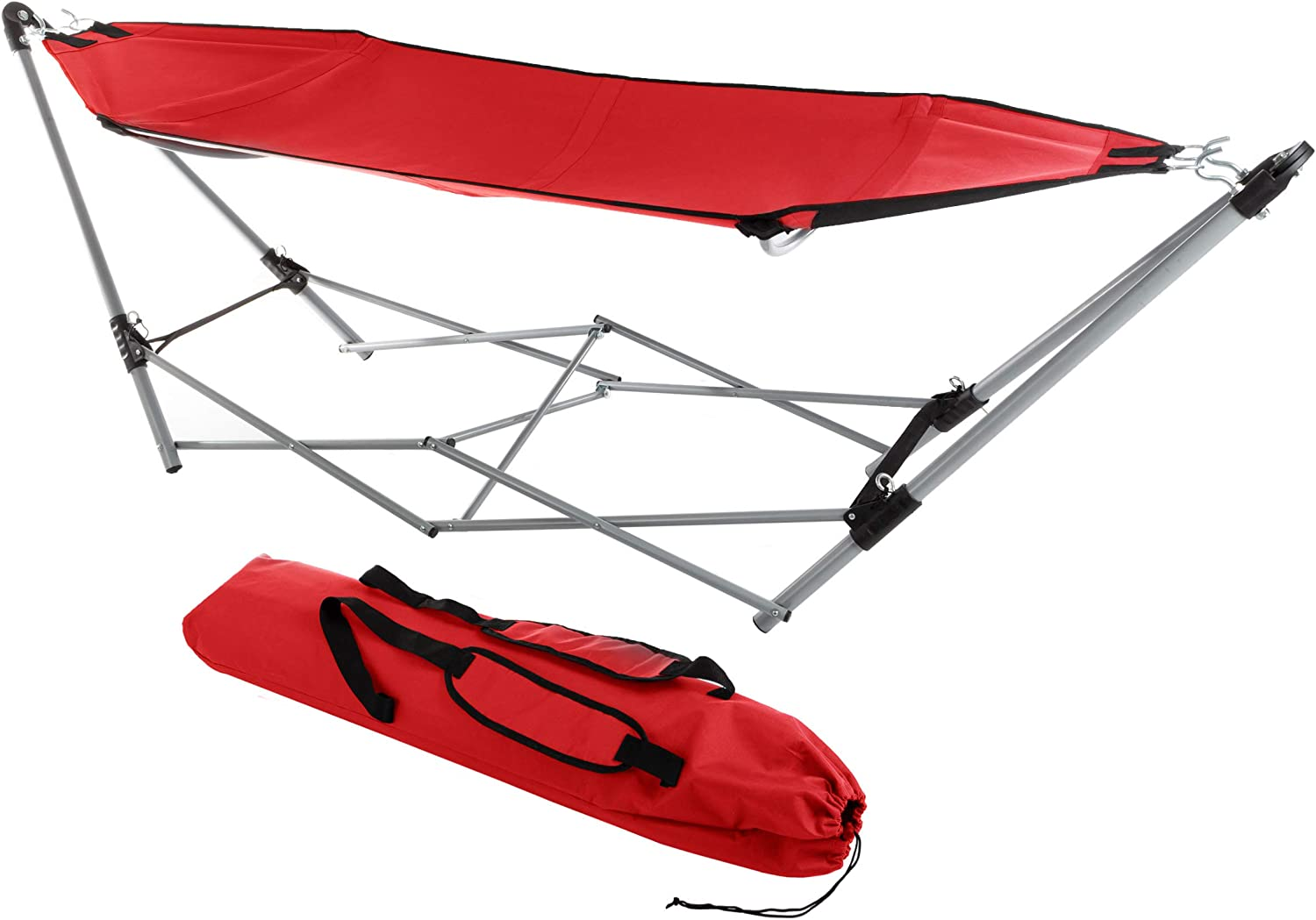 Lavish Home 80-OUTHAM-RED Portable Hammock Stand Japan Cheap SALE Start Maker New with