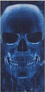 Top Fuel Fashion Schlauchschal Biker Motorrad Sturmhaube Halstuch Tuch Totenkopf Skull blau
