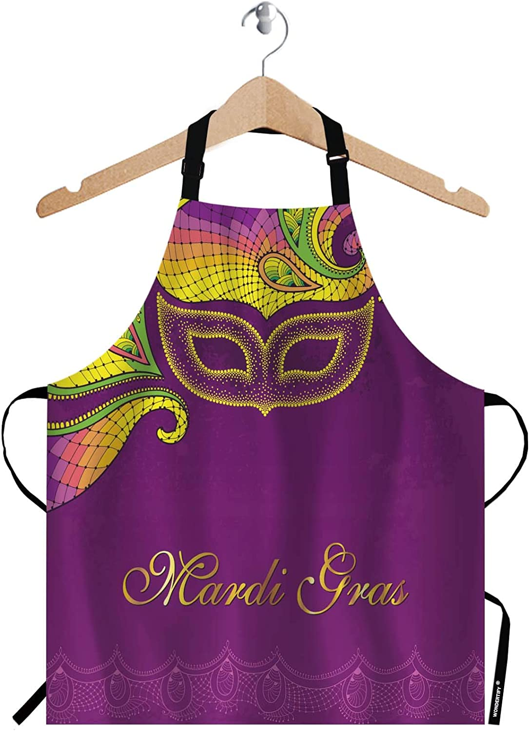 WONDERTIFY Greeting Card Popular product 70% OFF Outlet Apron Dotted Carnival an Yellow Mask in