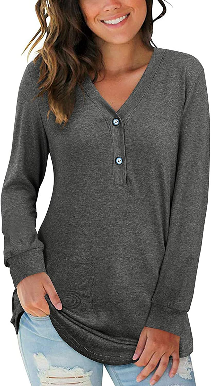 SGAOGEW Plus Size Tunic Max 84% OFF Tops for Long Plain Gorgeous Casual Blouses Women