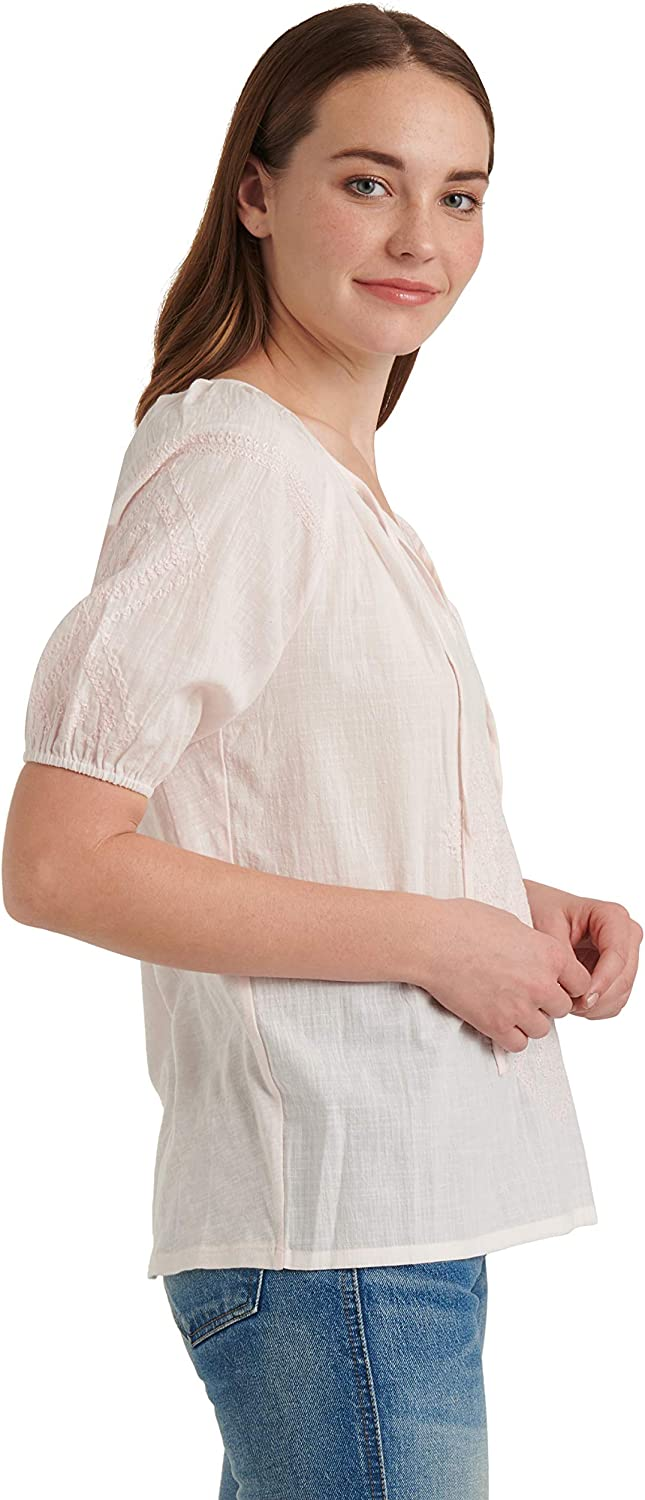 LUCKY BRAND NEW Women/'s Cotton Embroidered Peasant Blouse Shirt Top XS TEDO