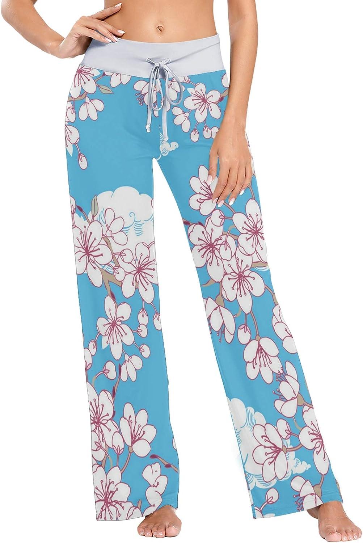 MSACRH Pajama Pants for Women 2 Flowers Today's only Sleepwear San Jose Mall Pretty Pant
