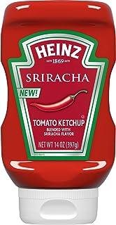 Heinz Sriracha Tomato Ketchup (14 oz Bottles, Pack of 6)