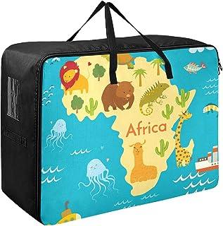 Organisateur et rangement pour vêtements Animaux Carte du monde Afrique Vector Illustration Conteneurs pour organiser les ...