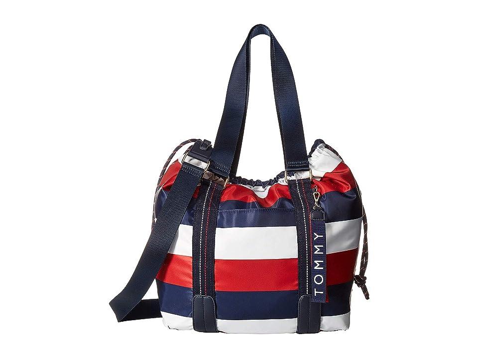 Tommy Hilfiger Jaen Tote (Navy/Red/White) Handbags