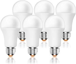 Bombilla LED E27, 12W (equivalente a 96W), 960lm,3000K luz calida - 6 unidades [Clase de eficiencia energética A+] (3000K)