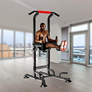 Power Tower - Chin Up Station Pull Up Bar Dip Knee Raise Power Rack - Pull-up Sports Equipment Fitness Equipments