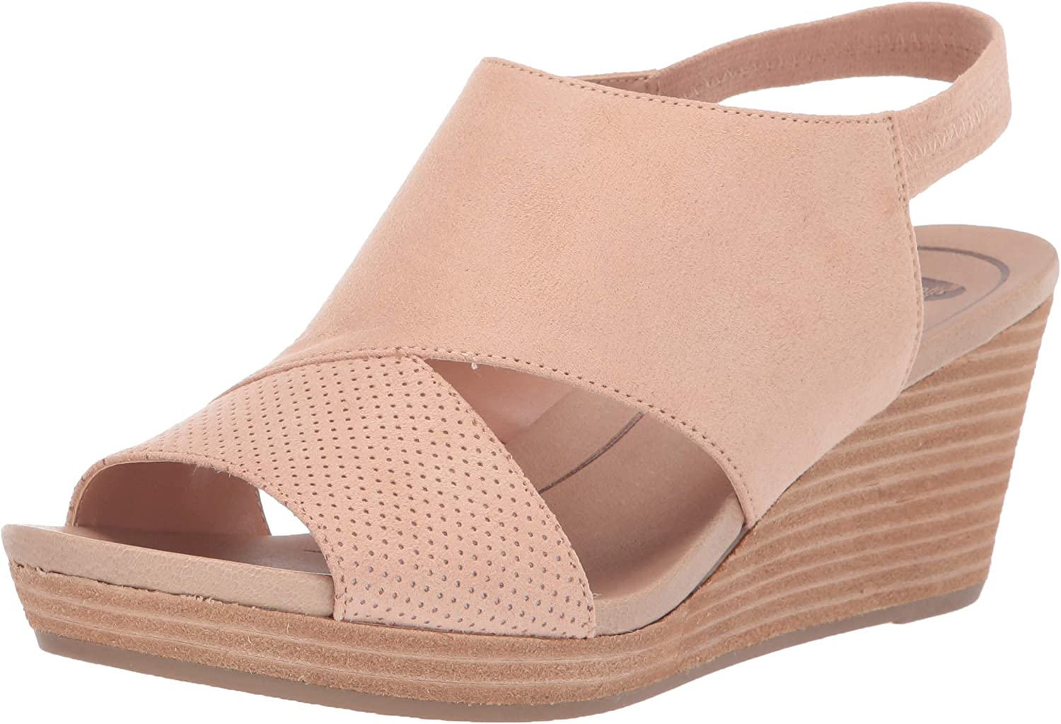 Dr. Scholl's Shoes womens Deluxe Wedge Award Sandal Brita