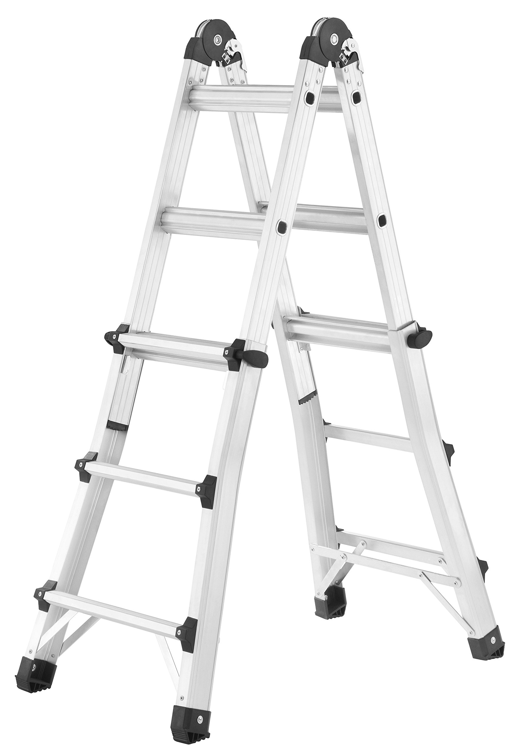 Hailo 7512 – 707 MTL – Escalera telescópica de Multifunción de aluminio, peldaños: 4 x 3: Amazon.es: Bricolaje y herramientas