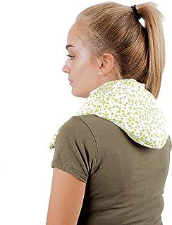 Saco Térmico Semillas MaxiCervical - Almohada Cuello para Calentar en Microondas (60x12-22 cm) - Cojín de Semillas - Bolsa de Calor con Funda lavable, Tela de Algodón 100% y Olor a Lavanda (Flores)