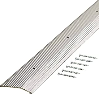 M-D Building Products 78220 Extra Wide Fluted 2-Inch by 72-Inch Carpet Trim, Silver
