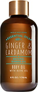 Bath and Body Works Essential Oils Body Oil Ginger and Cardamom 6 Fluid Ounce Bottle