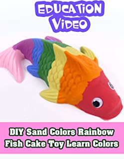 DIY Sand Colors Rainbow Fish Cake Toy Learn Colors