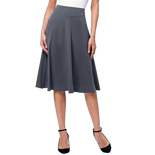 alta moda estilo popular sobornar auténtico Falda Gris: Amazon.es