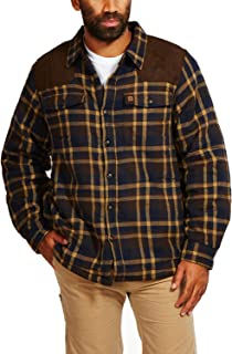 Coleman Sherpa-Lined Flannel Shirt Jacket with Faux Suede Shoulder Patches