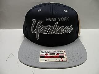 American Needle MLB New York Yankees Script Team Color 2 Tone Retro Snapback Cap