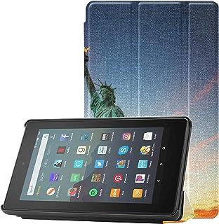 Etui na tablet 7-calowy Statua Wolności w Nowym Jorku USA Fire7 etui na tablet Fire 7 (9. generacji, modele z 2019) lekkie...