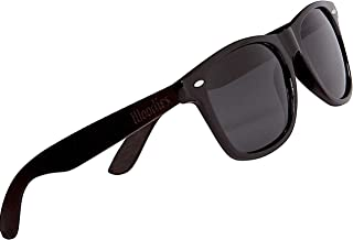 WOODIES Ebony Wood Sunglasses with Black Polarized Lenses