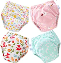 Tiger007 4 Pack Cotton Potty Training Pants for Boys Girls Learning Designs Training Underwear Pants 12M-4T