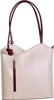 Primo Sacchi® Ladies Italian Leather Hand Made Handbag, Shoulder Bag or Backpack. Medium and Large Versions. Includes a Branded Protective Storage Bag.