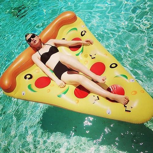 hasta 60% de descuento CZSM Fila Flotante de la Pizza Pizza Pizza Amarilla, Juguete Adulto de la Bola de la flotación del Agua del Recliner del Anillo de la natación del sofá del Agua, diámetro Externo el 180  135  30cm    venta