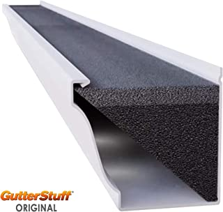 GUTTERSTUFF Gutter Guard - 4-Inch K Style Foam Gutter Filter Insert with Year Round Leaf Protection & Easy DIY Installation - 8 x 4' (32-feet)