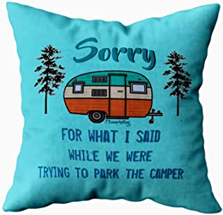 EMMTEEY Home Decor Throw Pillowcase for Sofa Cushion Cover,Christmas What i Said Parking rv Camper Decorative Square Accent Zippered and Double Sided Printing Pillow Case Covers 20X20Inch