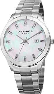 Akribos Xxiv Women's Analogue Quartz Watch With Stainless-Steel Strap Ak954Ss