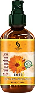 4 fl oz 100% Pure Calendula Oil - for Body, Nails & Hair - Perfect Natural Skin Moisturizer - Also Ideal Natural Skin Care Antioxidant Serum