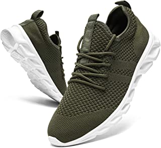 Damyuan Hommes Chaussures de Course Marche Sport Casual Athlétiques Mode Gymnastique Sneaker Confortable Travail Respirant...