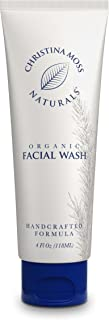 Face Wash - Facial Cleanser Made With Organic & Natural Ingredients - Skin Clearing Soap, Anti Blemish, Fights Acne, Non Drying, Non Oily No Harmful Chemicals. For Women & Men. Christina Moss Naturals