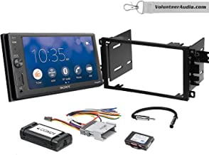 Sony XAV-AX1000 Double Din Radio Install Kit With Apple CarPlay, Sirius XM Ready, NO CD Player Fits 2003-2005 Chevrolet Blazer, 2003-2006 Silverado, Suburban (Bose and SWC)